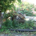 sewer pipe sculpture at Dalhousie h/